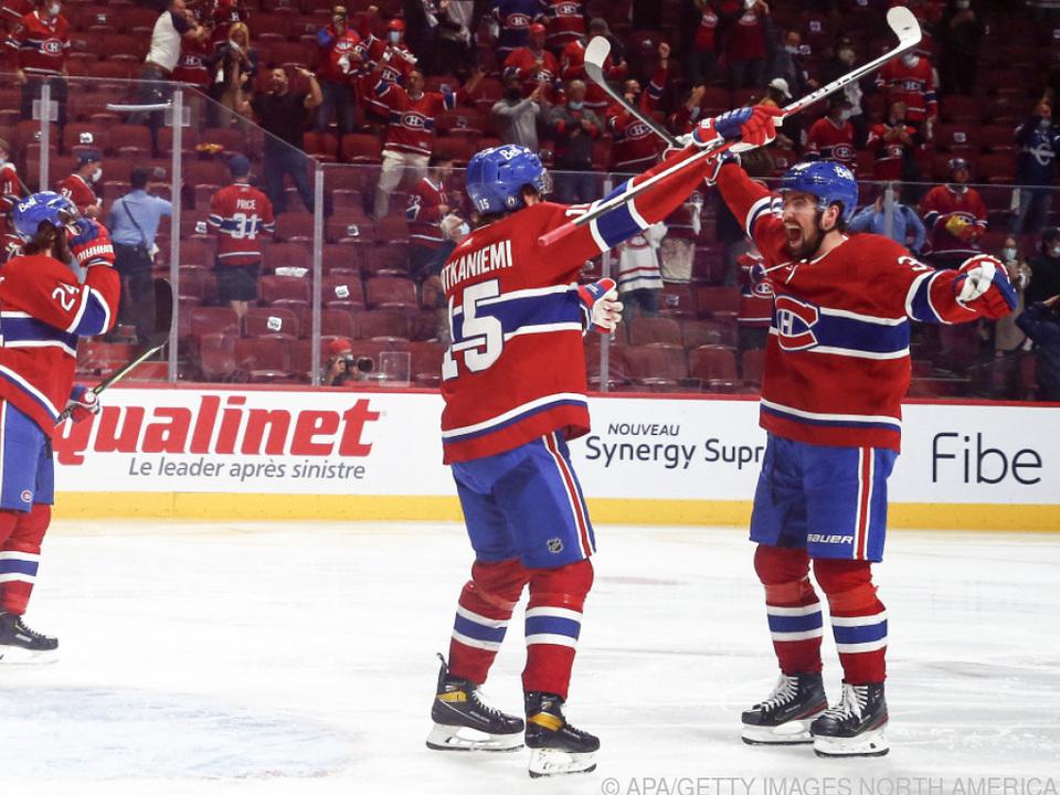 Die Montreal Canadiens feiern den Einzug ins Stanley-Cup-Finale