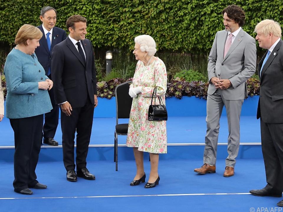 Die Queen verbreitet gute Laune