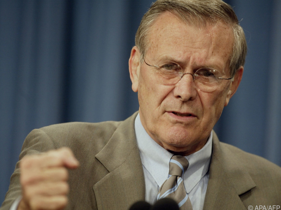 Donald Rumsfeld im Jahr 2002