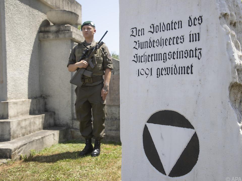 Ein Gedenkstein für den Einsatz 1991