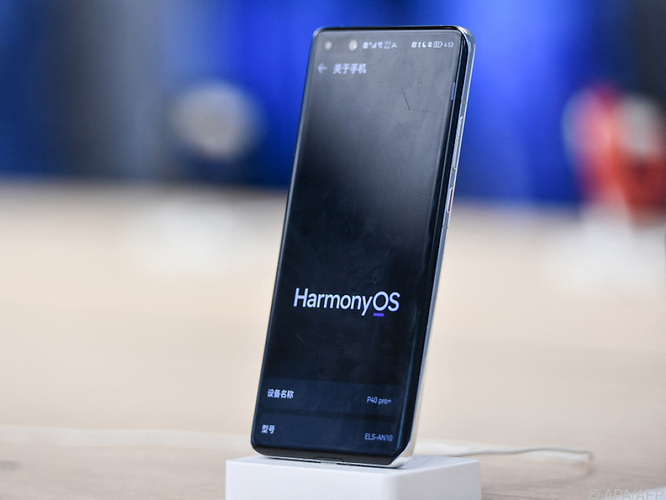 Ein Huawei-Smartphone mit HarmonyOS