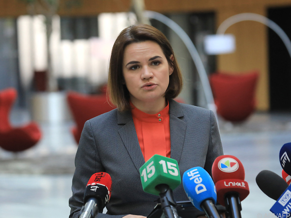 EU-Außenminister beraten auch mit Oppositionsführerin Tichanowskaja