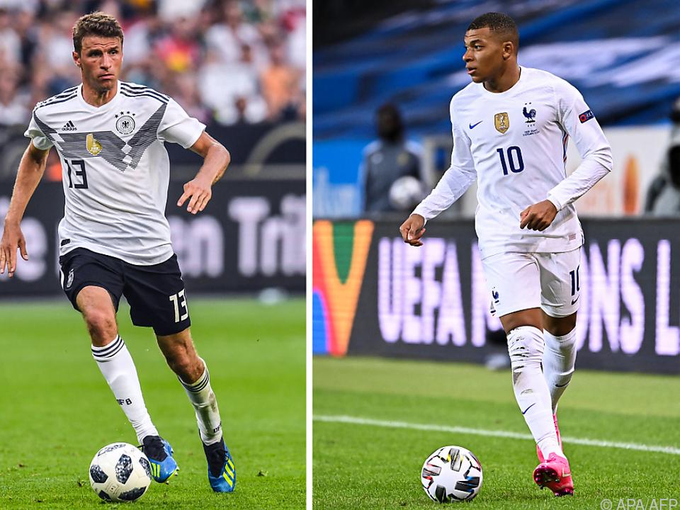 Ex-Weltmeister und Weltmeister: Müller (l.) trifft auf Mbappe