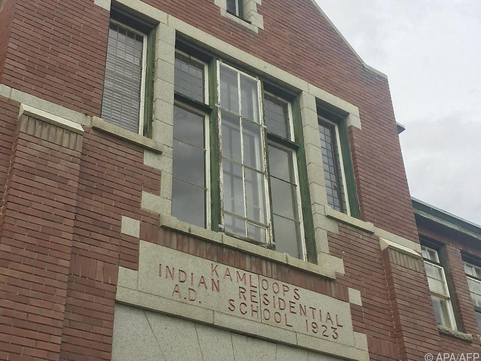 Fassade der Kamloops Indian Residential School