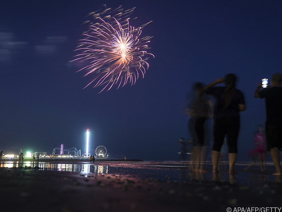 Feuerwerk in Texas anlässlich des neuen Feiertages