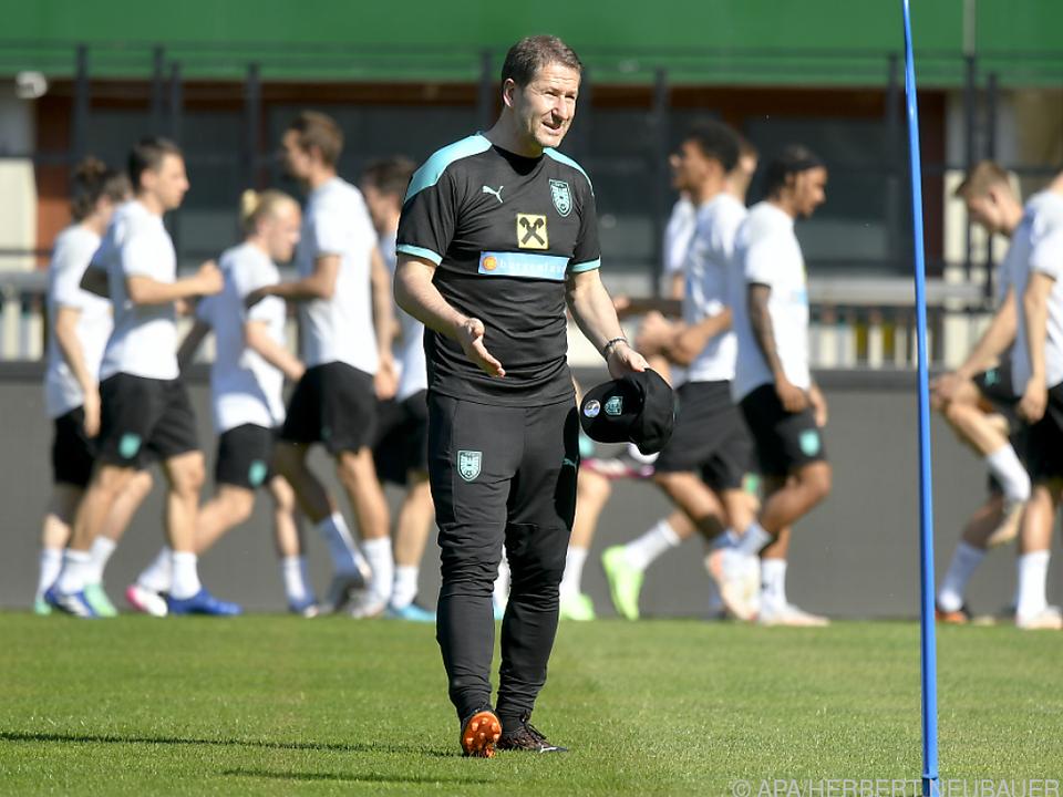 Foda trainierte mit seinem Team am Freitag im Ernst-Happel-Stadion
