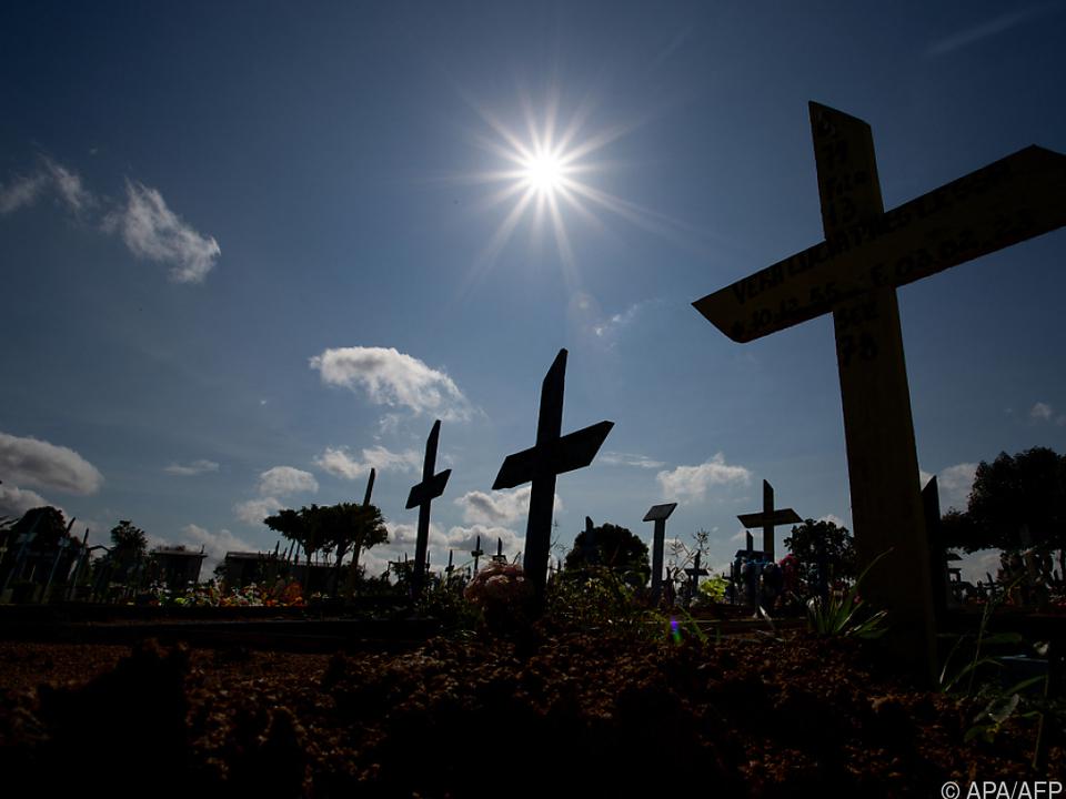 Friedhof für Corona-Tote in Manaus in Brasilien