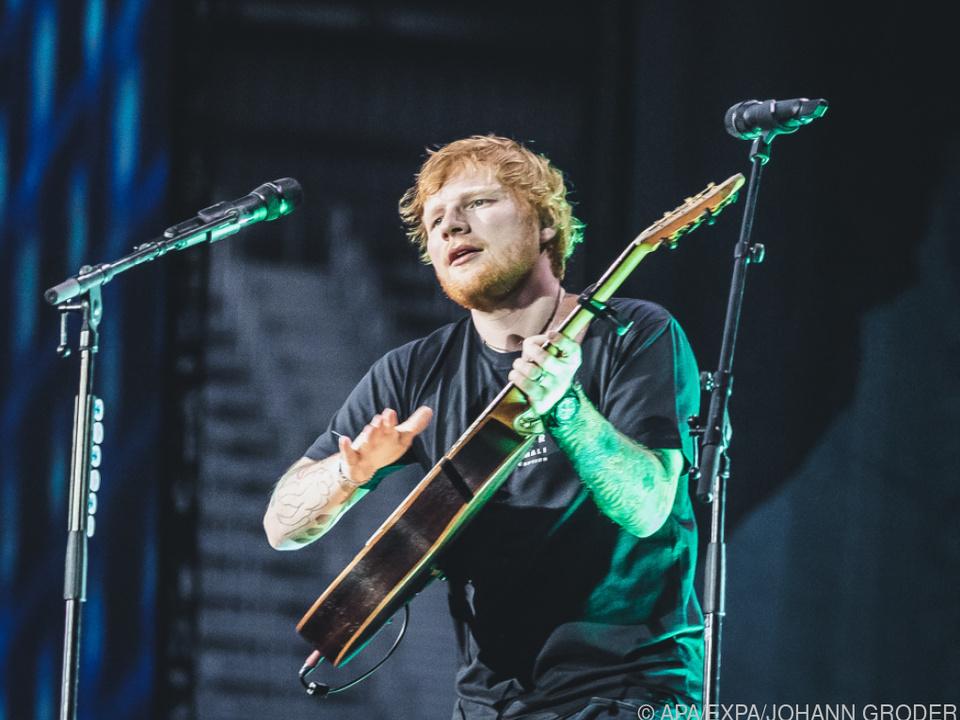 Hier schon kein Teenie mehr: Popstar Ed Sheeran