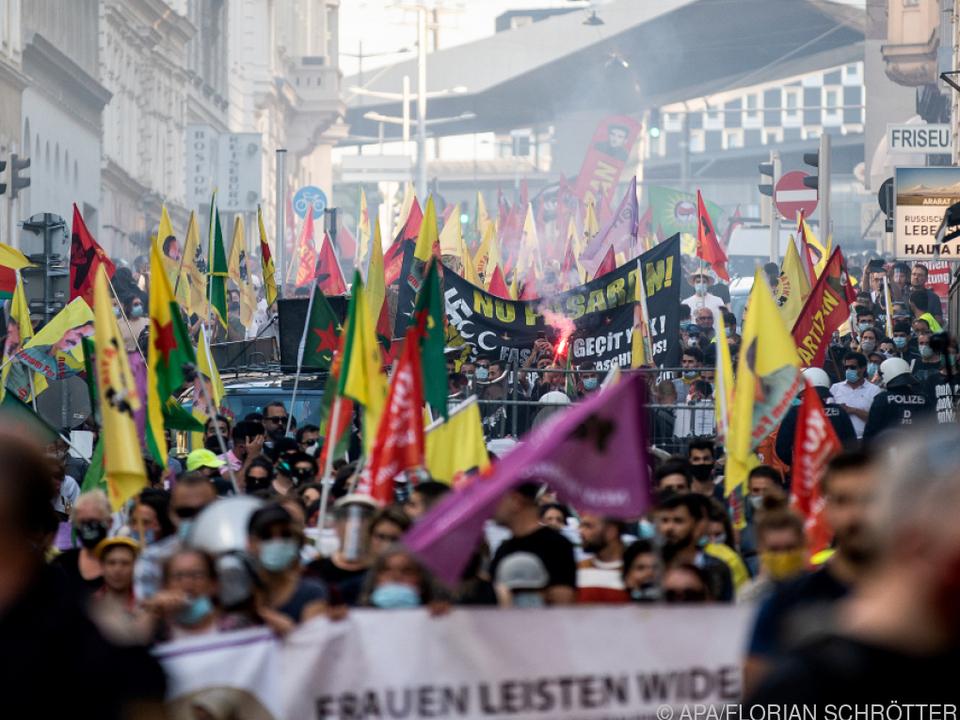 Im Vorjahr war es bei Kurden-Demo brenzlig geworden