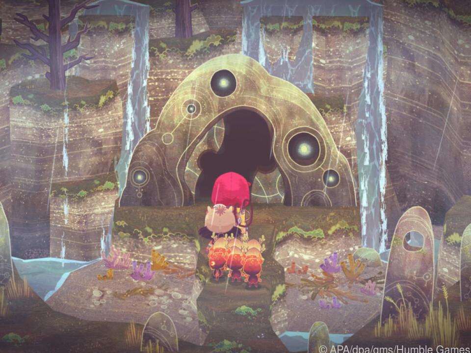 Nur eines der vielen Abenteuer: Was wohl in dieser Höhle steckt?