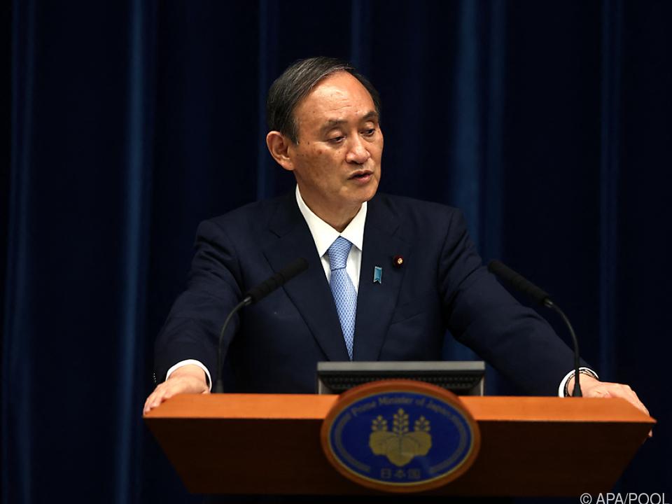 Japans Ministerpräsident Suga wehrt sich gegen Kritik