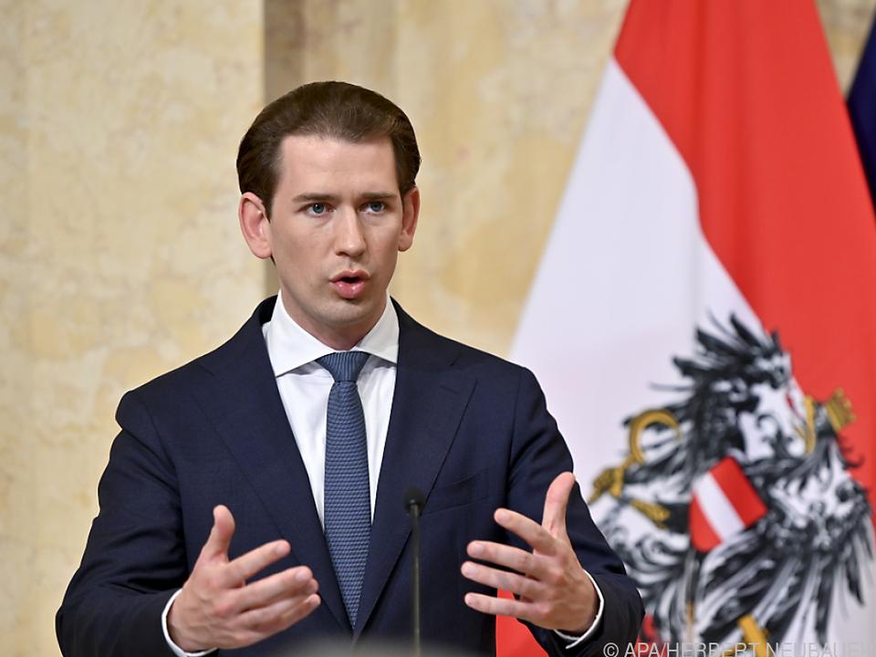 Kanzler Kurz bekräftigt seine Linie in der Migrationspolitik