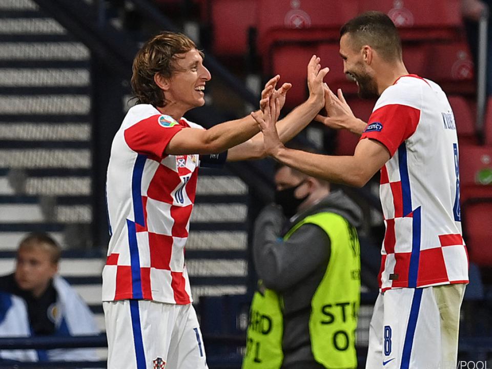 Luka Modric präsentierte sich in starker Form