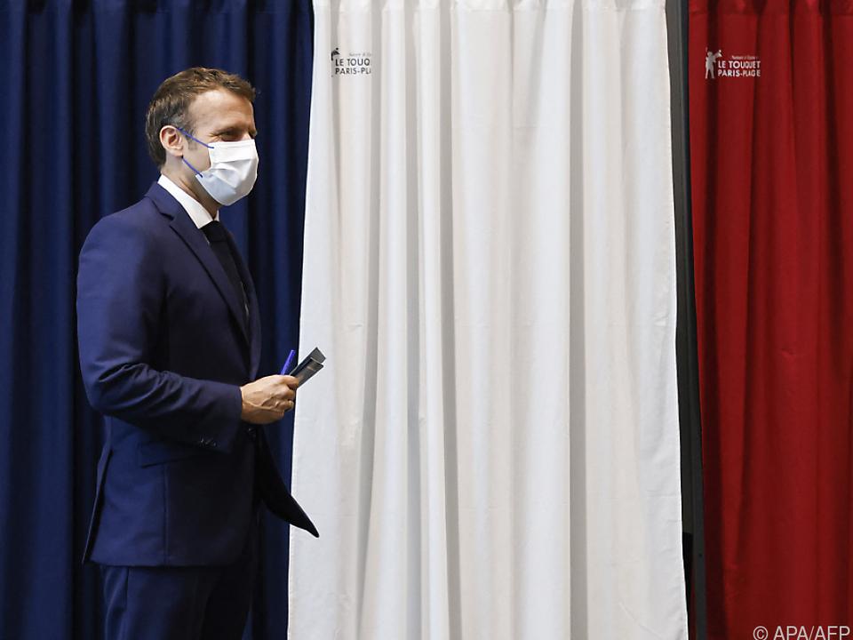 Macron gab sich nach der Wahl als guter Verlierer
