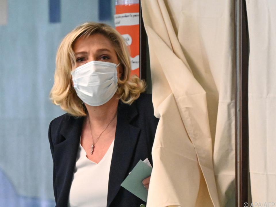 Marine Le Pen hoffte vergeblich auf ersten Sieg in einer Region