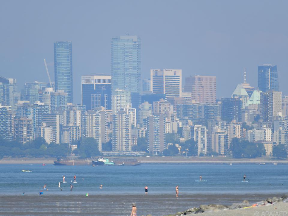 Menschen in Vancouver leiden unter der extremen Hitze