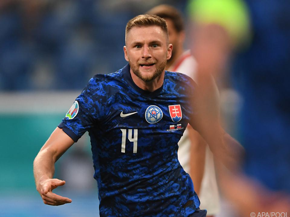 Milan Skriniar schoss die Slowakei zum Sieg.