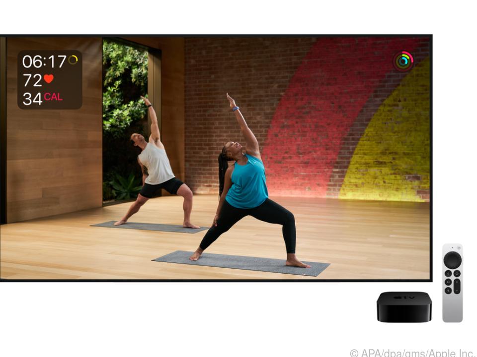 Mit dem Apple TV 4K kann man auch Fitnessangebote per App nutzen
