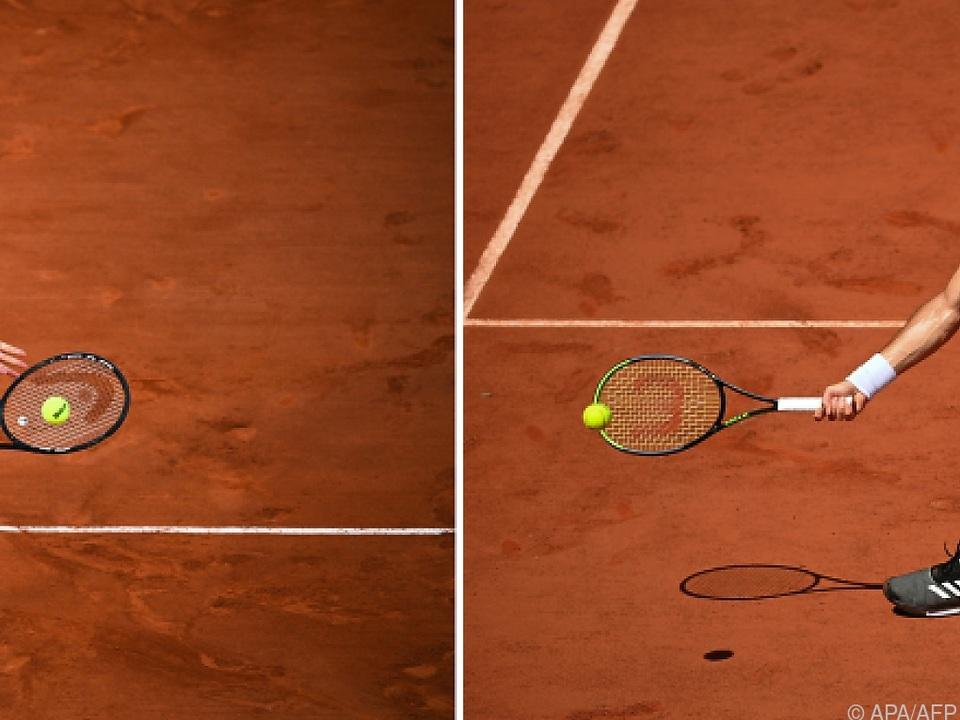Novak Djokovic (l.) und Stefanos Tsitsipas spielen um den Paris-Titel.