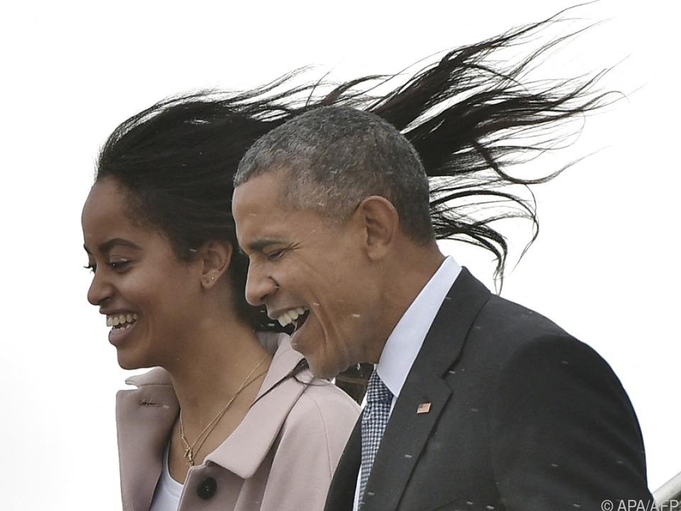 Obama ist stolz auf seine Töchter