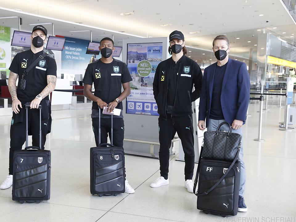 ÖFB-Team flog am Dienstag zum Testspiel nach England