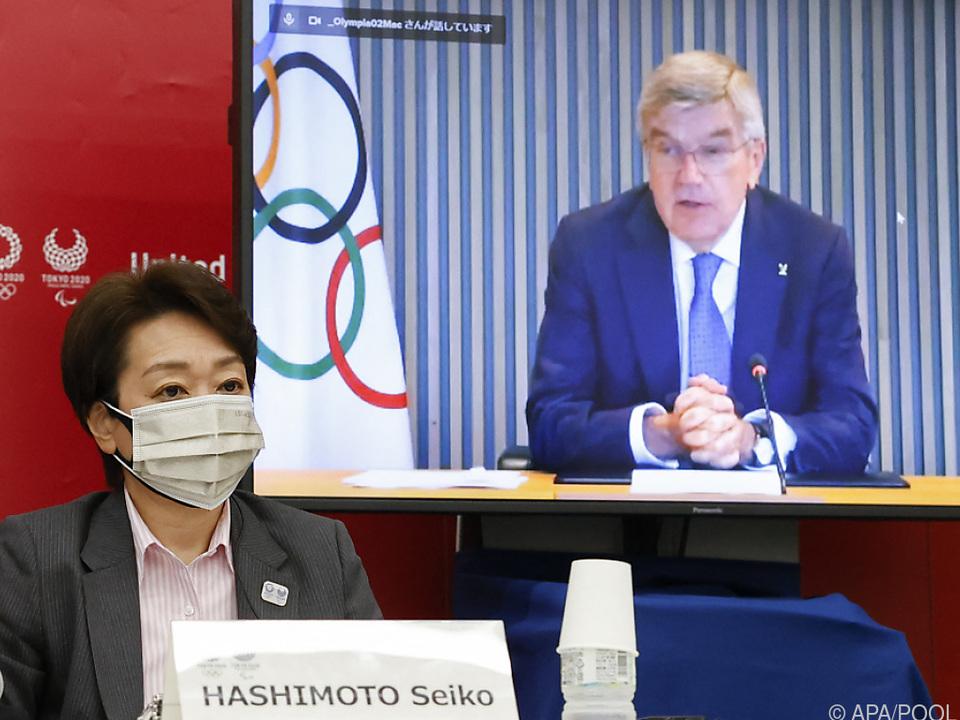 OK-Chefin Hashimoto und Bach bei Tagung zu Tokio-Spielen