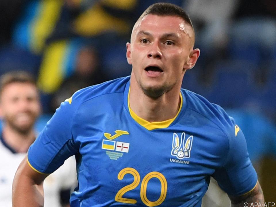 Olexander Subkow sorgte für das Siegestor der Ukraine.