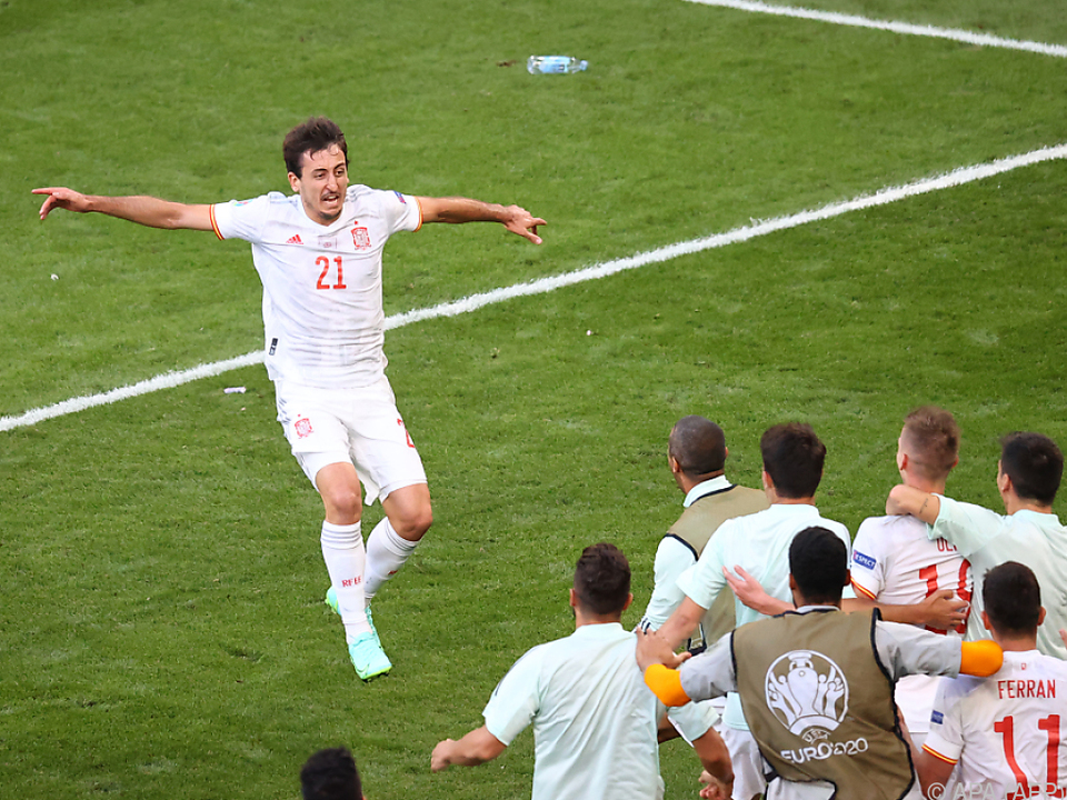 Pure Freude nach verrückter Partie: Spanien-Torschütze Oyarzabal