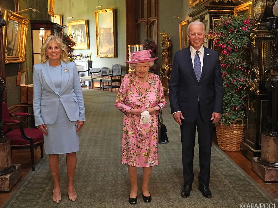 Queen empfing US-Präsident Biden und Ehefrau