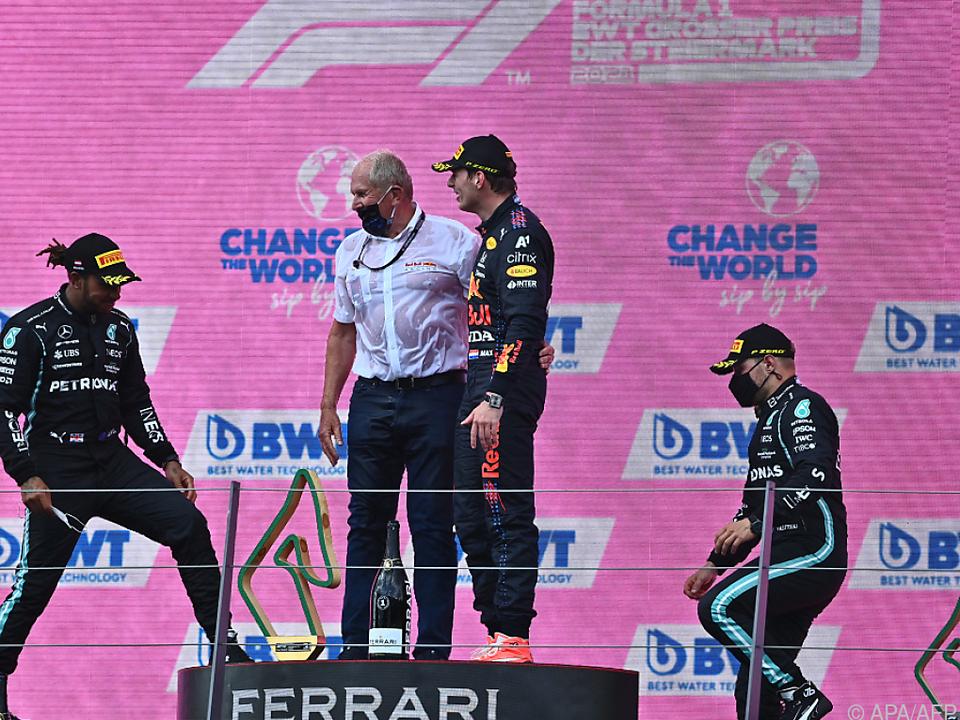 Red Bull steht oben, Mercedes ist derzeit degradiert