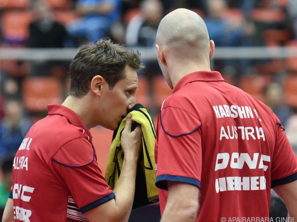 Robert Gardos (l.)/Daniel Habesohn stehen im EM-Viertelfinale/Archiv