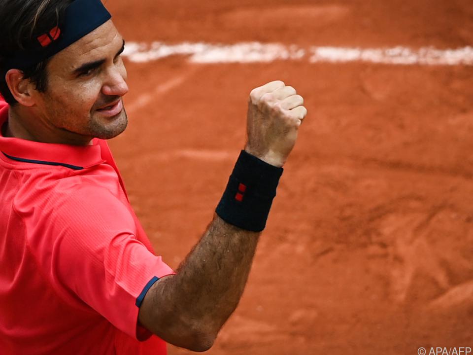 Roger Federer hatte wieder Grund zum Jubeln.