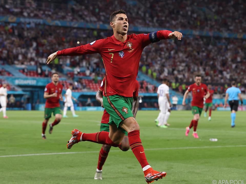 Ronaldo traf in Budapest zu nächstem Rekord