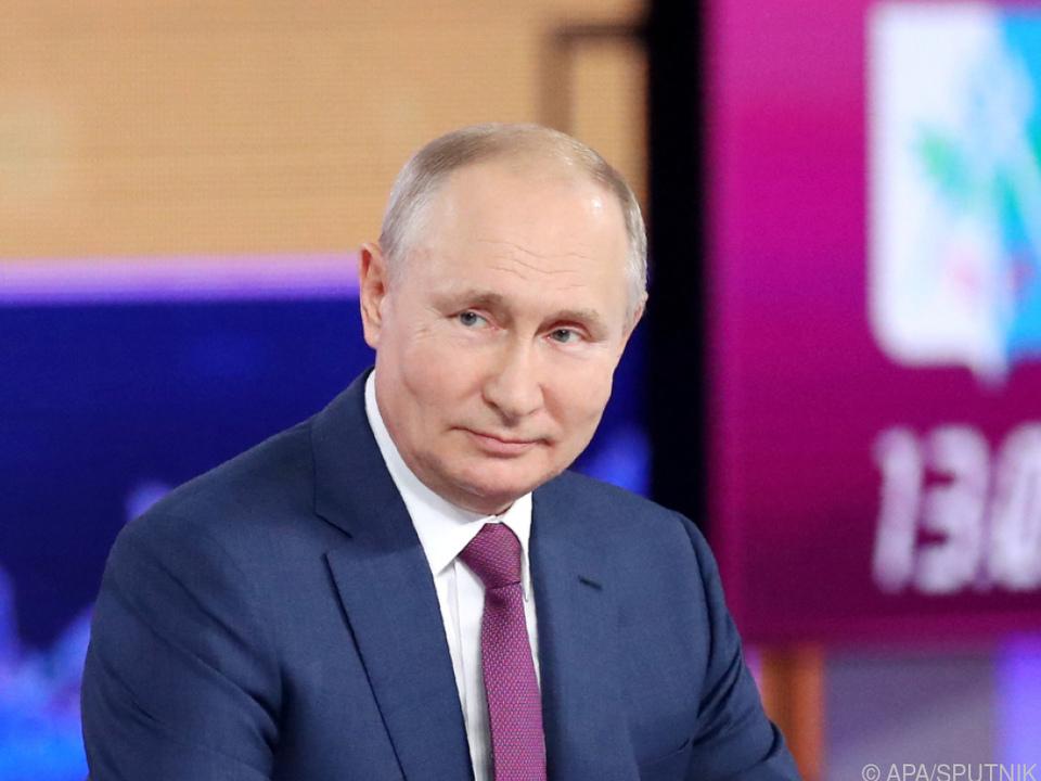 Russischer Präsident im Bürgergespräch \