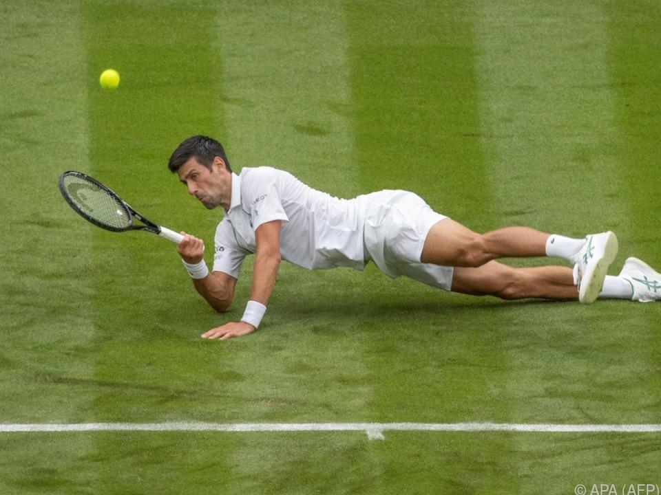 Rutschte in der ersten Runde letztlich nicht aus: Novak Djokovic