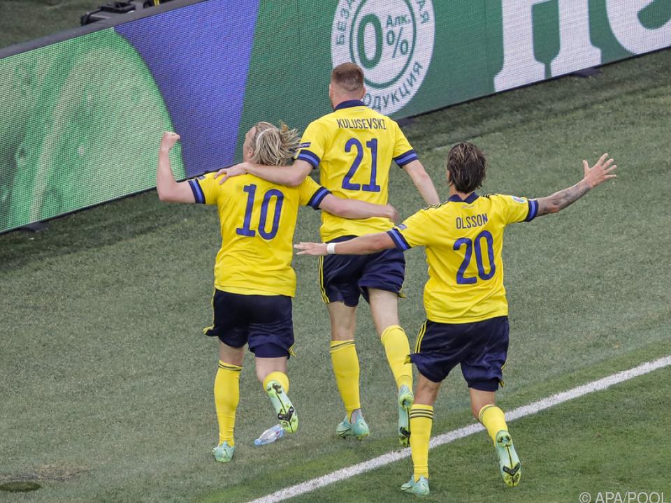 Schweden darf sich über den Gruppensieg freuen.