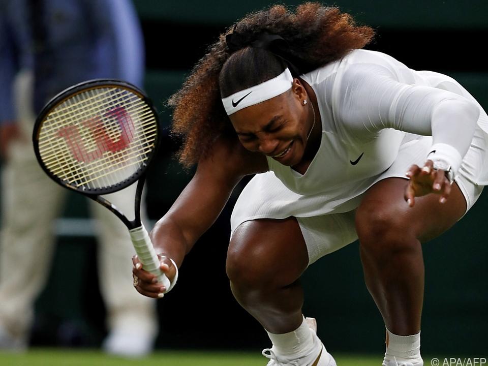 Serena Williams kurz vor der Aufgabe verzweifelt