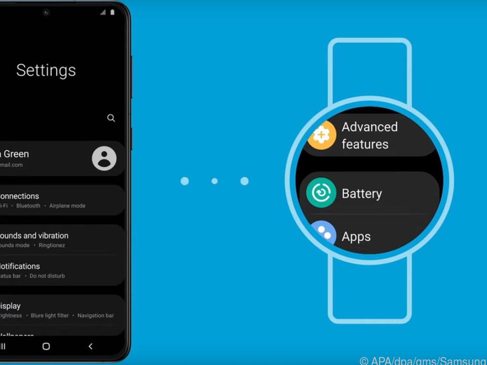 So soll es bald auf den runden Displays von Samsungs Smartwatches aussehen
