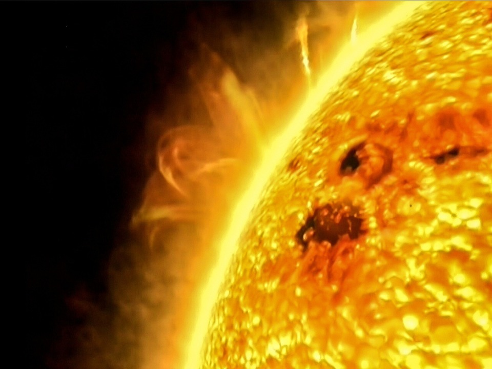 Sonne vom Weltall aus