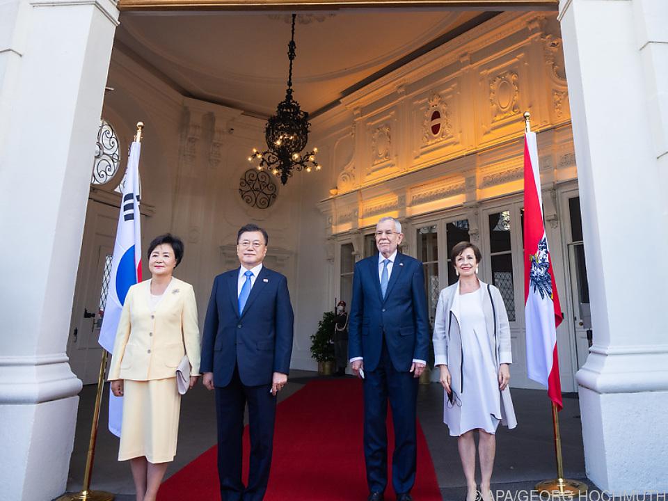 Südkoreas Präsident auf Staatsbesuch in Wien
