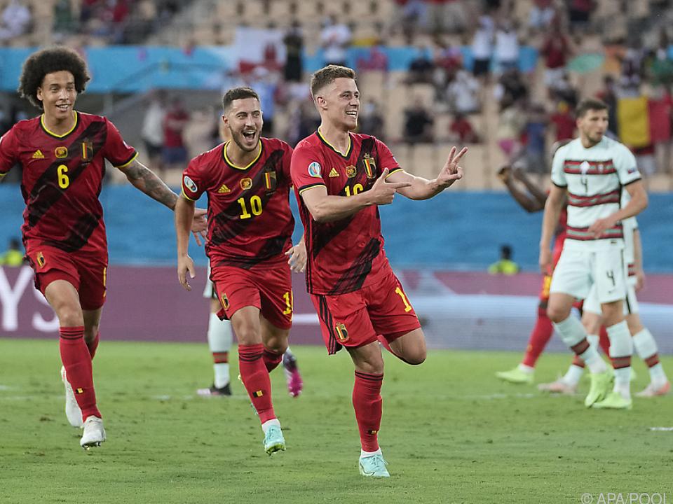 Thorgan Hazard (16) schoss Belgien ins Viertelfinale