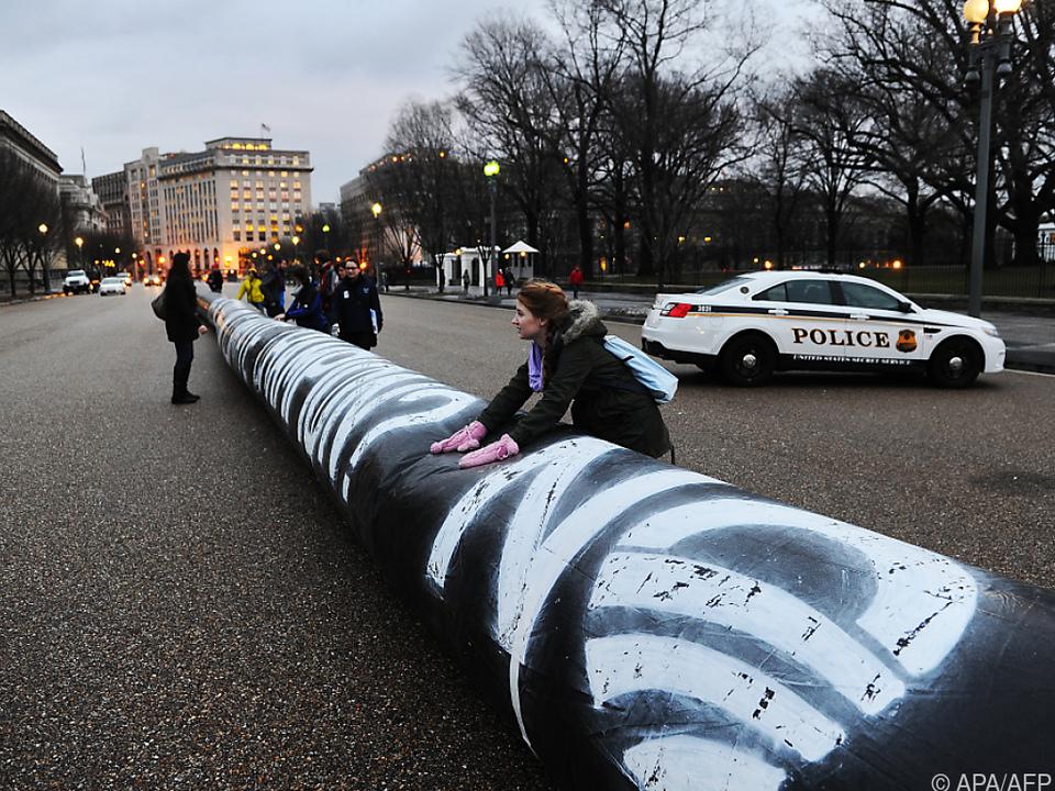 Umweltschützer liefen seit Jahren Sturm gegen das Pipeline-Projekt