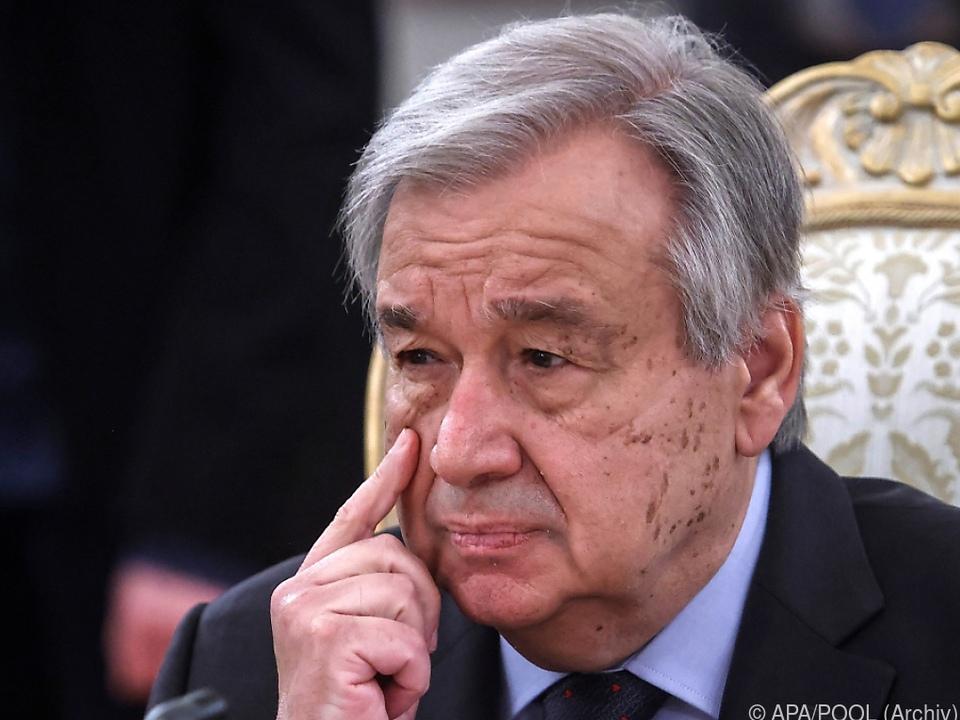 UNO-Generalsekretär Antonio Guterres