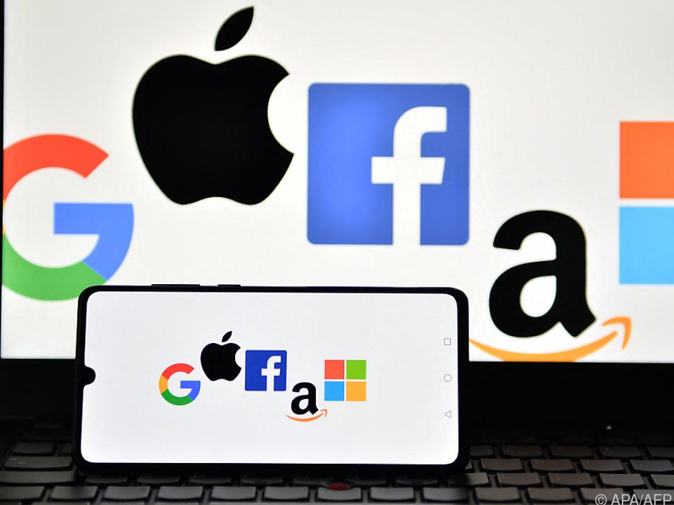 US-Internetkonzerne an der Spitze