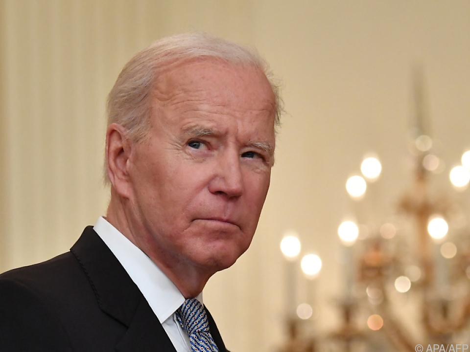 US-Präsident Joe Biden spricht von \