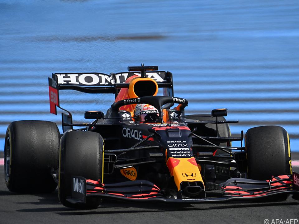 Verstappen erzielte im Red Bull Trainings-Bestzeit in Frankreich
