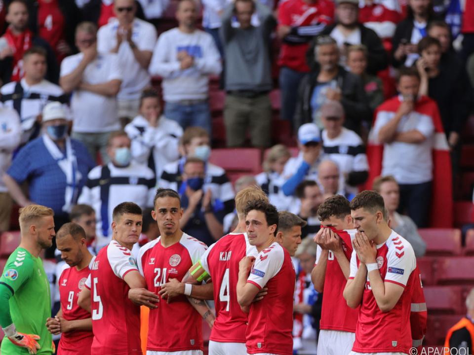 Vorerst kein Training und psychologische Hilfe für dänische Spieler