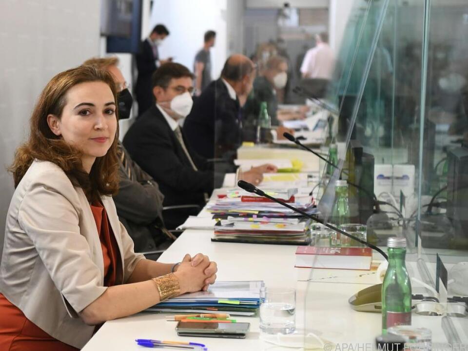 Zadic zum zweiten Mal im U-Ausschuss