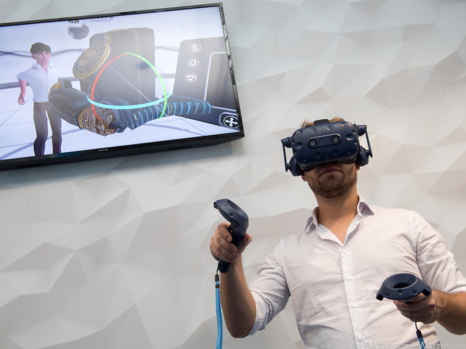 So sieht es aus, wenn jemand sich in der virtuellen Realität bewegt
