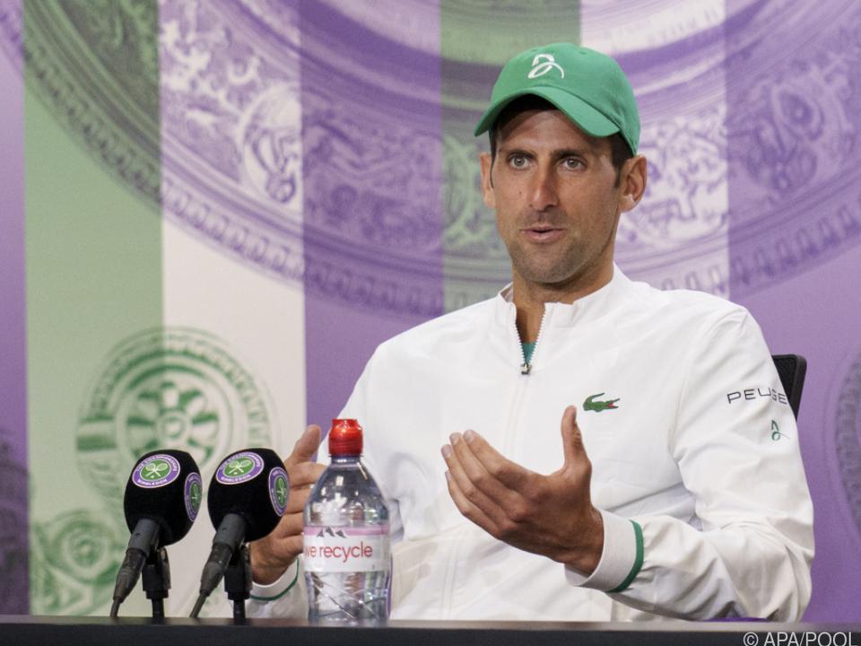 Am Sonntag könnte Djokovic schon über 20. Major-Titel plaudern